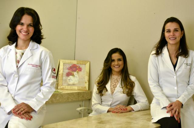 Dra. Eliza de Oliveira Borges, Dra. Jacqueline Cássia de Castro e Dra. Jaqueline Souza Lacerda